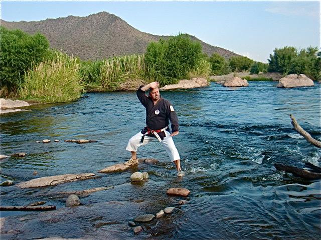 Sanchin kata fishing dojo for Lower salt river fishing