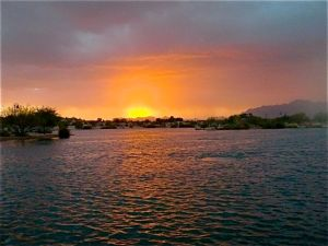 Sunrise, Veteran's Oasis Lake, Chandler, AZ