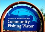 community fishing sign
